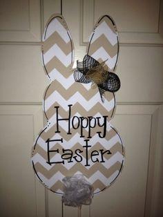 Chevron Bunny Door Hanger