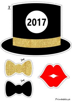 Photo booth props: New Years Eve 2017