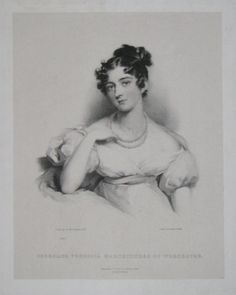 ladycashasatiger:  Georgiana Frederica, Marchioness of Worcester, lithograph of Lawrence portrait, c. 1814 Because the duchy of Beaufort still thrives, one can assume the original Lawrence portrait is hidden from view in one of the family's residences. Georgiana Frederica Fitzroy (3 October 1792 - 11 May 1821) was the niece of the Duke of Wellington by his sister, Anne, and Henry Fitzroy, son of the 1st Baron Southampton. On 25 July 1814 in her step-father's house in Upper Brook Street…