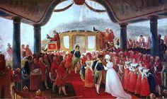 O Príncipe Real Dom Pedro casa-se com a Arquiduquesa Leopoldina da Áustria