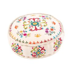 For those with a more relaxed, boho-inspired lifestyle, this pouf is a perfect place to kick back and relax. Have a morning cup of tea and spend a few minutes in quiet meditation. It'll start your day off with a blast of color and a surge of peace.