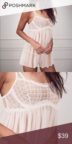 Victoria's Secret very sexy crochet baby doll Perfect condition. Never washed or worn. Unfortunately I lost the matching underwear so I can not return. Please no trades. I am pretty flexible on this but please do not low ball me. Victoria's Secret Intimates & Sleepwear