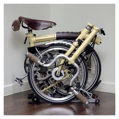Brompton with leather.