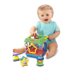 Your baby's hand-eye coordination gets a boost as she tries to place shapes into the correct places with this toy. Better yet, when your child succeeds, she is rewarded with sounds and music. The rattling blocks feature vivid pictures, adding to your baby's sensory development.