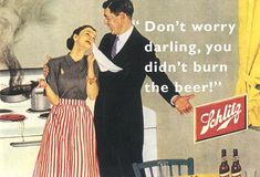 beer ad from the good old days