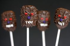 Pin for Later: Boo Bites! 20 Spook-tacular Halloween Cake Pops Werewolf Cake Pops