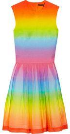 Christopher KaneRainbow cotton and silk-blend dress