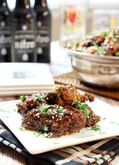 Slow Cooker Sweet Spicy and Sticky Chicken Wings