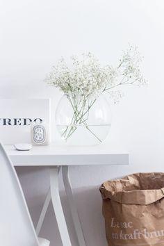 Decoration. Styling. White.