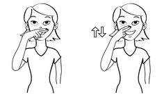 Video: Funny in Sign Language Signing: Extending your middle finger and index finger, make the sign for funny by using these two fingers to brush off your nose. Remember the sign for funny by think… Sign Language Book, Sign Language Alphabet, Learn Sign Language, German Language Learning, American Sign Language, Deaf Sign, Asl Signs, Libra, Teaching French