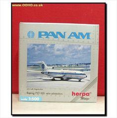 Herpa Wings 512633 - 1/500 - Pan Am Boeing 727-100 on eBid United Kingdom