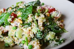 Vegetarische quinoa salade met feta en kruiden