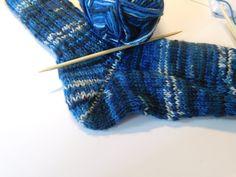 Socken stricken Tutorial - Teil 3 - Die Ferse (Bumerangferse, Jojo Ferse)