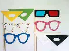 80's photo booth props...i havne't looked at these, but an idea @Kimberly Peterson Pasche