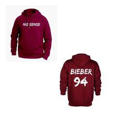 ATLBIEBUR designs No Sense Bieber 94 Maroon Hoodie