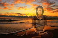 Meditating, Sunset, Meditation, Yoga