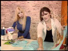 Liliana Villordo - Bienvenidas TV - Explica la costura de una Remera con Carterita. - YouTube Learning, Knitting, Sewing, Liliana, Clothes, Bb, Shoe, Youtube, Fashion
