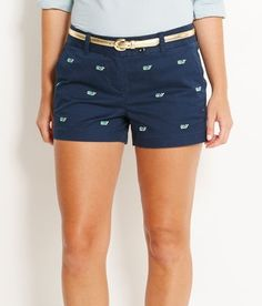 I like the small (whale) pattern with a lot space in between. I don't have many shorts beyond my jean shorts.