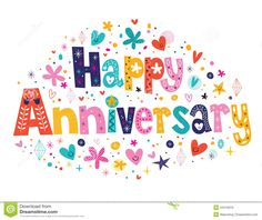 Happy Anniversary Card Stock Photos - Image: 19252923