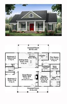 Colonial Country Traditional House Plan