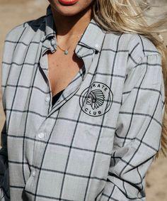 Perfect plaid for your Spring wardrobe Club Design, Button Down Collar, Capsule Wardrobe, Skate, Plaid, Spring, Cotton, Shirts, Women