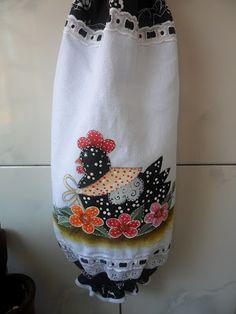 Elizabete Araujo - Fazendo Arte: Jogo de cozinha-pintura country galinha...Uma…