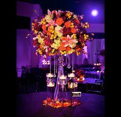 Fall wedding centerpieces-- Autumnal Hues