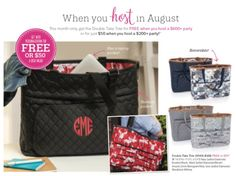 Host a party in August - get this amazing Double Take Tote as a Hostess Special Thirty One August, Thirty One Facebook, Thirty One Fall, Thirty One Party, Thirty One Gifts, Mystery Hostess, Happy Co, 31 Party, Thirty One Consultant