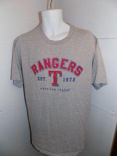 Texas Rangers Est 1972 T Shirt Size Large Gray