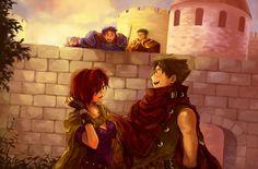 Warriors of Ostia (Rekka no Ken) Fire Emblem - FE7 - Matthew - Leila - Hector - Serra - Oswin