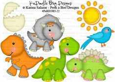 Dinosaur clipart little - pin to your gallery. Explore what was found for the dinosaur clipart little Die Dinos Baby, Baby Dinosaurs, Peek A Boo, Cute Clipart, Dinosaur Birthday Party, Cute Dinosaur, Paper Piecing, Digital Stamps, Felt Crafts