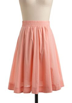 Crepes on the Cape Skirt - Pink, Solid, Casual, A-line, Spring, Summer, Mid-length