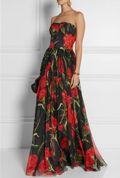 Printed floral brocade gown - Dolce & Gabbana. From ww.netaporter.com