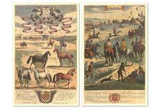 Richard Blome, Horses I Diptych