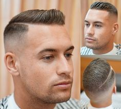 The men's Ivy League haircut adds a side part to a classic crew cut The men's Ivy League haircut is one of the most stylish short cuts. The crew cut with a side part works for the most active lifestyles, even the military. Trending Haircuts, Cool Haircuts, Hairstyles Haircuts, Haircuts For Men, Popular Haircuts, Summer Hairstyles, Buzz Haircut, Quiff Haircut, Haircut Styles
