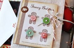 sweet button card by TinyCarmen