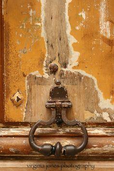 Old door in Paris