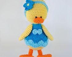 Duck Amigurumi - PDF Crochet Pattern - Instant Download - Amigurumi crochet Animal Cuddy Stuff Plush