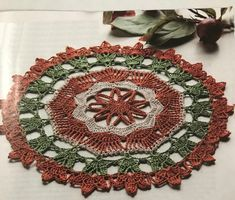 Fall Blossoms Doily, Crochet World, August Check out our selection of crochet and other craft magazines! Use promo code to save! Doily Patterns, Crochet Patterns, Table Runner Pattern, Crochet World, Pebble Beach, Diy Arts And Crafts, Crochet Doilies, Mosaic Tiles, Christmas Tree