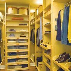 Walking Closets Wardrobes Walk in Closet Guardarropas y Amplios armarios : Dormitorios: Fotos de dormitorios Imágenes de habitaciones y recámaras, Diseño y Decoración