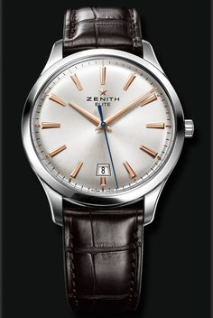 CAPTAIN : CENTRAL SECOND 40 MM 03.2020.670/01.C498 Classic watch faithful to the Zenith legacy