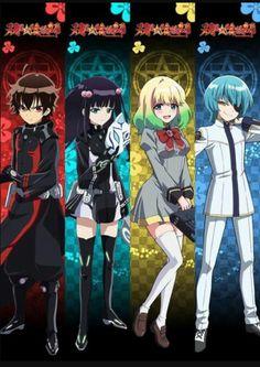 Rokuro, Benio, Mayura, and Yuto | Twin Star Exorcists