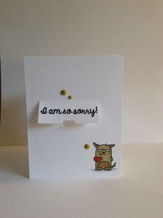 Grumpling sorry card - Scrapbook.com