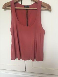 Topshop Vest T-Shirt Top Size 6 8 10 12 16  Summer Pink Skull Cross