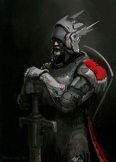 Scifi Knight, Bri in the Sky - on ArtStation at https://www.artstation.com/artwork/scifi-knight