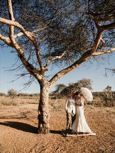 The dream safari wedding - rustic, boho wedding ceremony set in Kenyan wilderness Wedding Rustic, Boho Wedding, Wedding Ceremony, Dream Wedding, Safari Wedding, Destination Weddings, Wilderness, African, Couple Photos