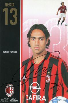 Cliccare sull'immagine per ingrandire Ac Milan, Alessandro Nesta, Soccer Kits, Football Players, All Star, Retro Vintage, Sports, Football, Legends