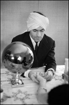 Cristobal Balenciaga with turban … Italy … 1956 … by Inge Morath (1923–2002) … Cristóbal Balenciaga Eizaguirre (1895–1972), Spanish Basque, fashion designer, founder of the Balenciaga fashion house …