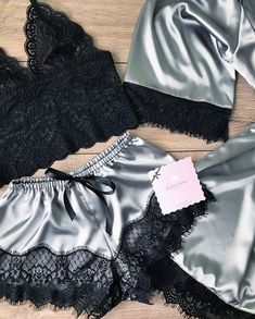 Sexy doesn't have to be costumey.simple comfy and smoooooooooth on the skin .I wanna t. Cute Sleepwear, Lingerie Sleepwear, Lingerie Set, Nightwear, Sexy Pajamas, Cute Pajamas, Pyjamas, Pretty Lingerie, Beautiful Lingerie