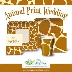 Giraffe Print Beverage Napkins | Bulk Bachelorette Supplies ...